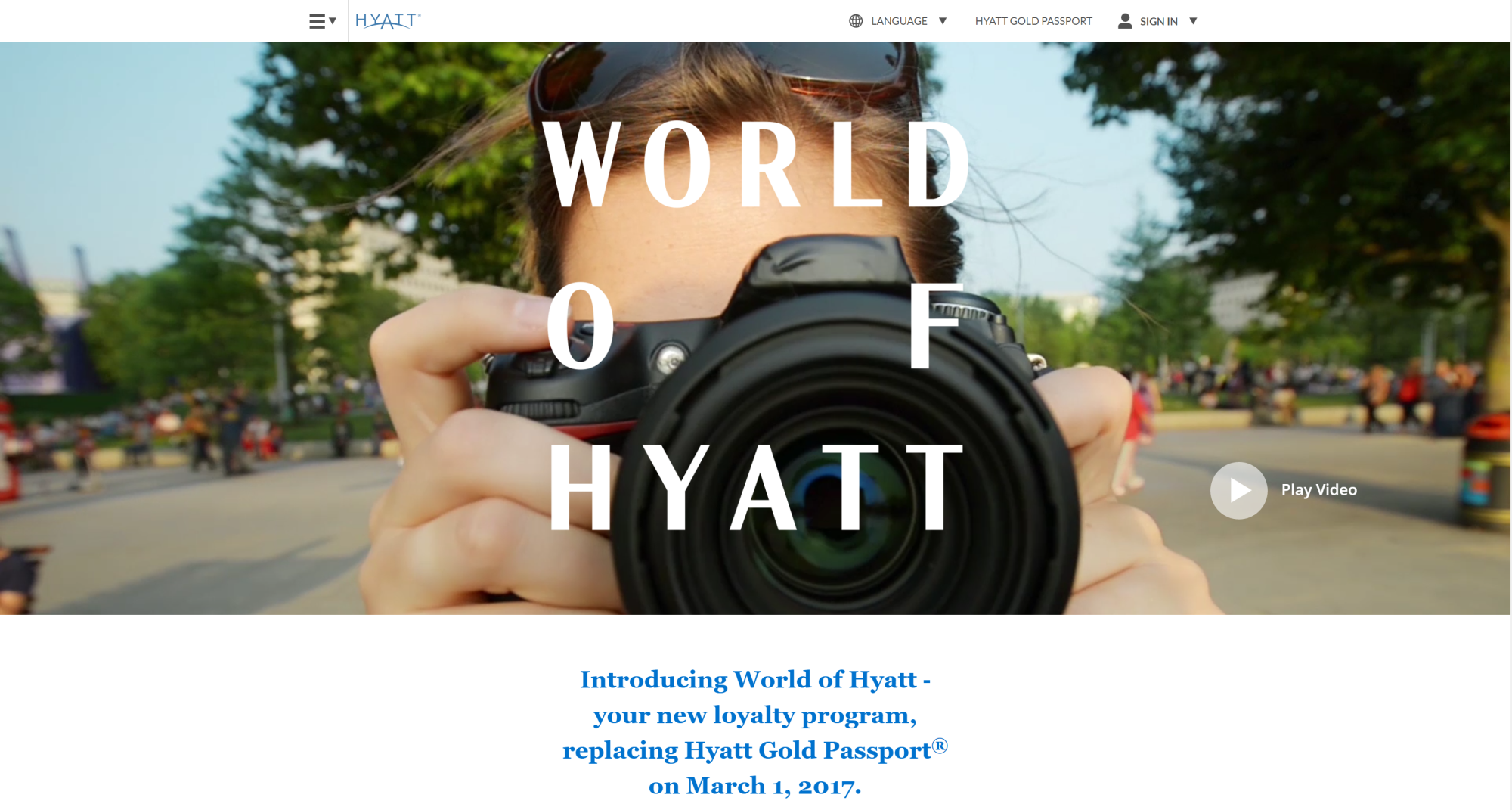 World of Hyatt – Hyatt's new Loyalty Program