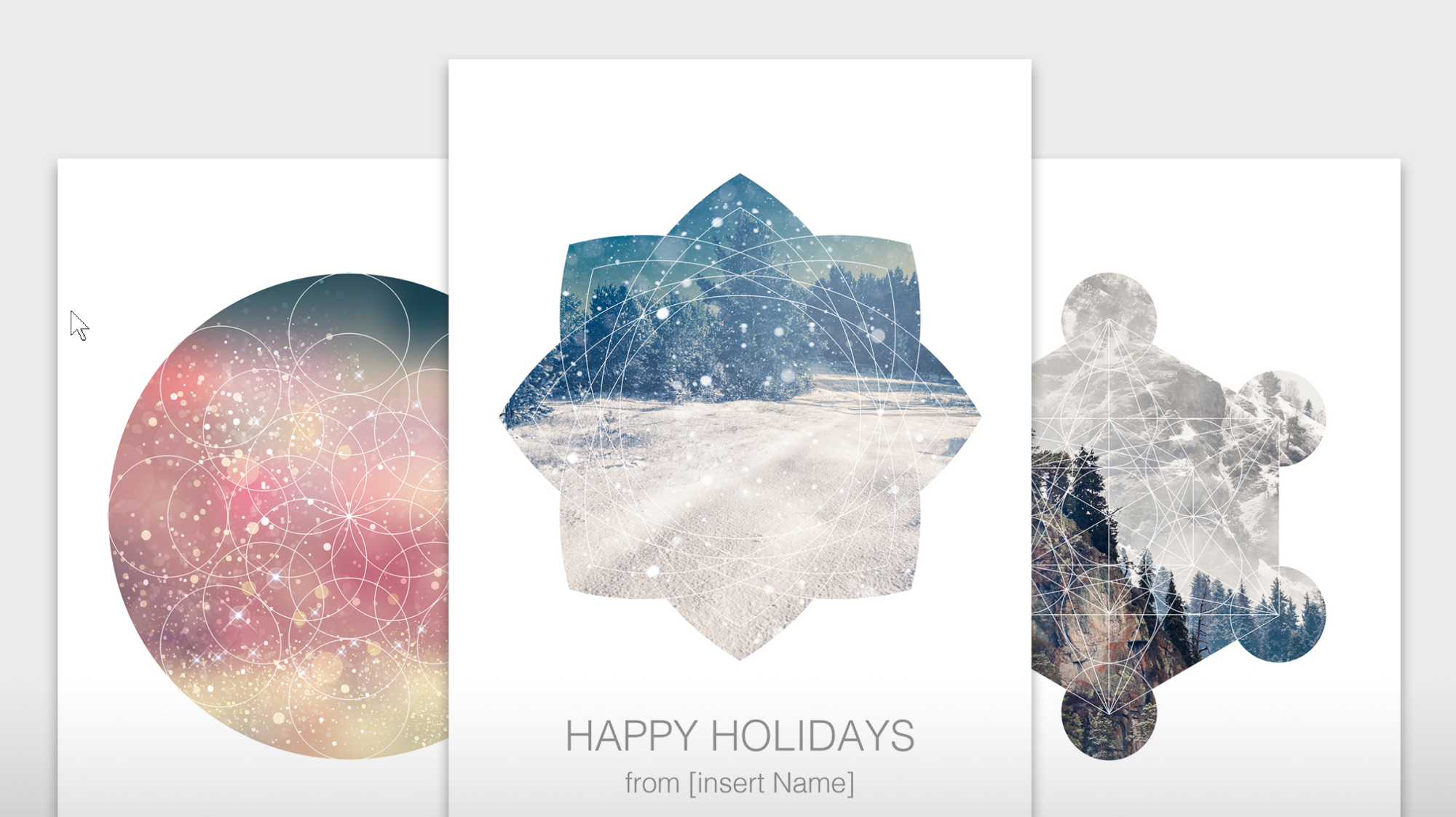 Unique Holiday Card Templates from Adobe Stock