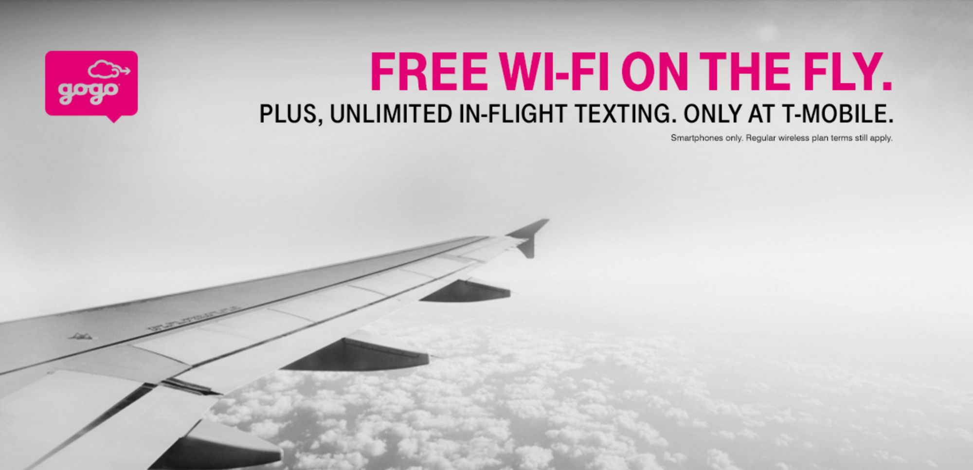 On my last flight using Gogo's service, I struggled to get 1mpbs. It Only Works on Mobile: Technically, free T-Mobile inflight service only works on mobile devices. If you connect to Gogo on your laptop you won't see an option to connect with the T-Mobile plan.