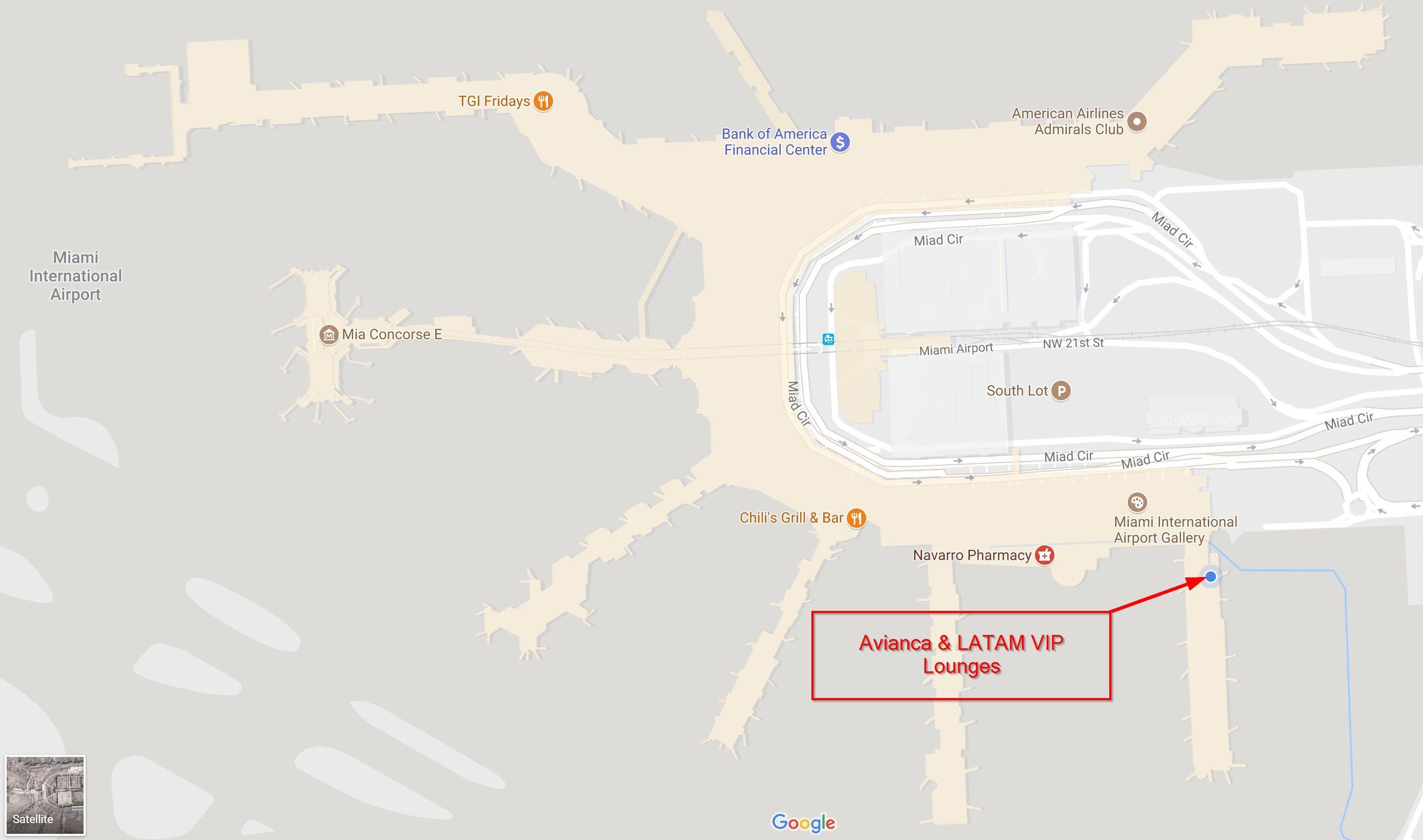 miami airport departure map