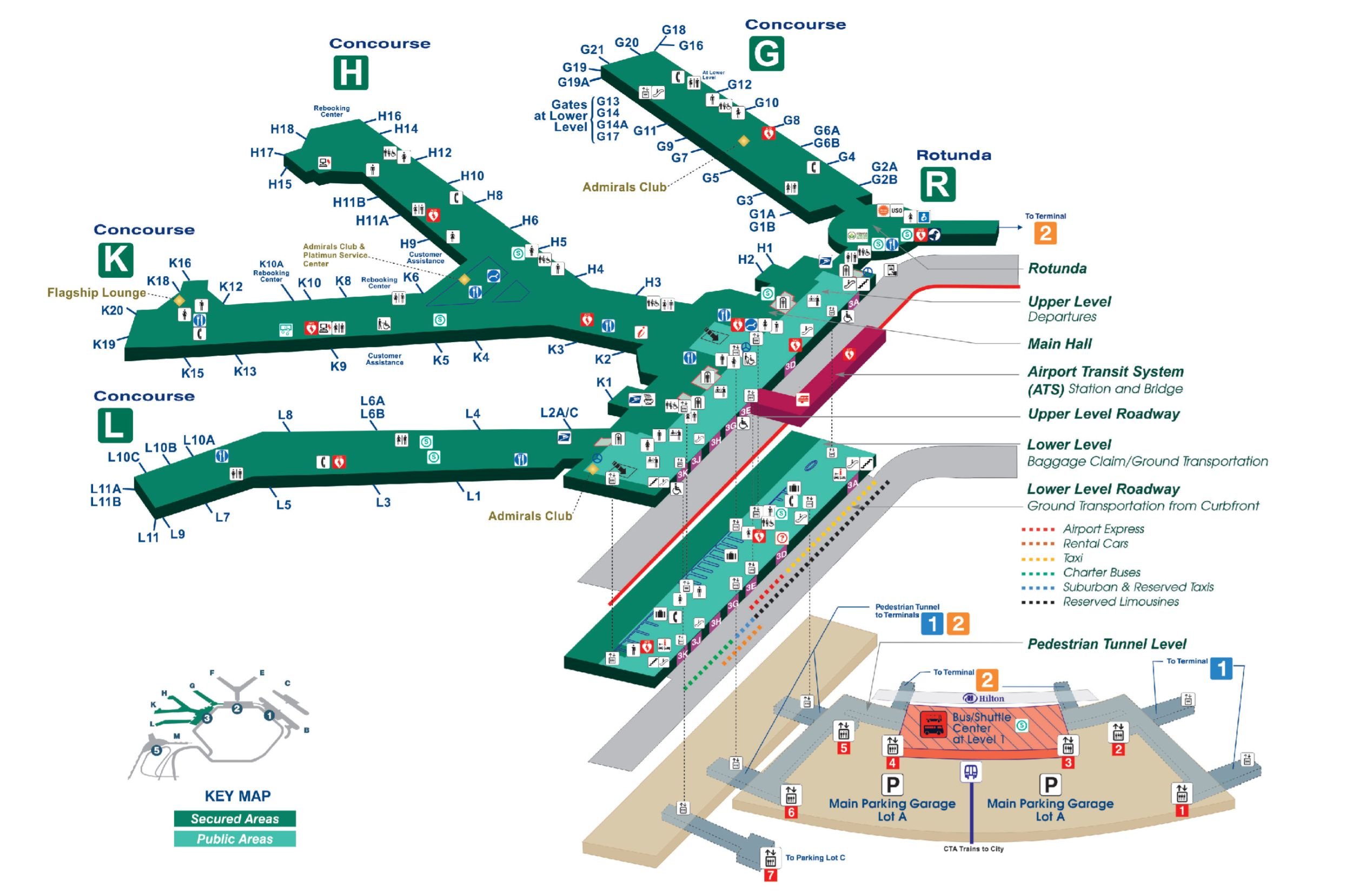ORD Terminal 3 Map - Gate to Adventures