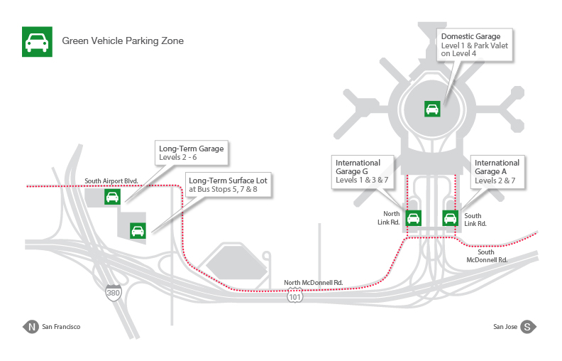 Free Electric Vehicle charging at SFO while Parking - Gate ... on sfo transportation map, sfo baggage claim map, sfo airport map,