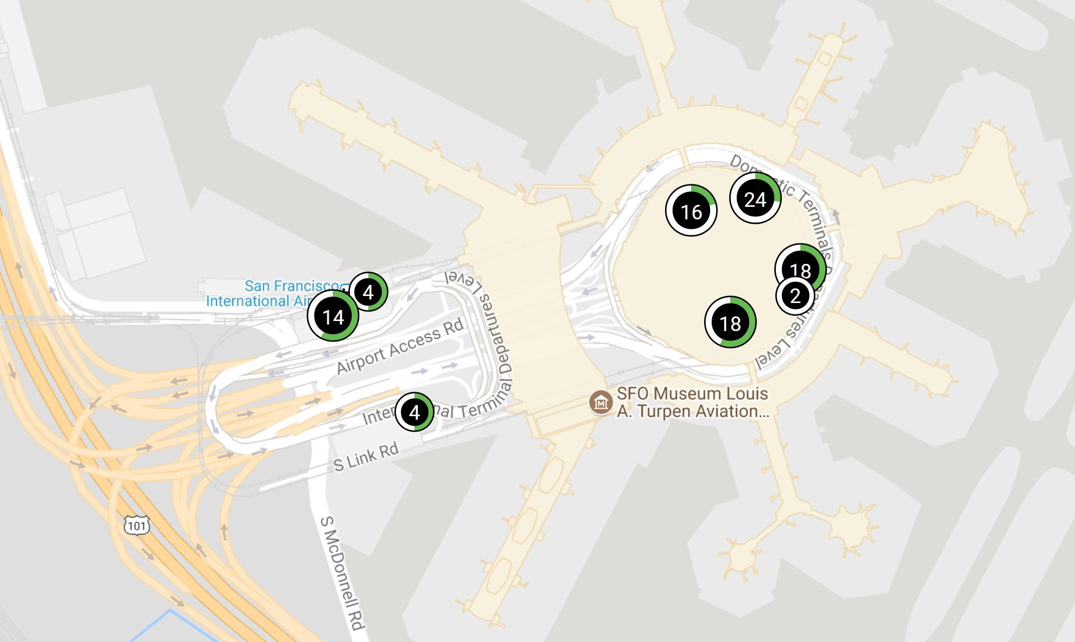 Free Electric Vehicle charging at SFO while Parking