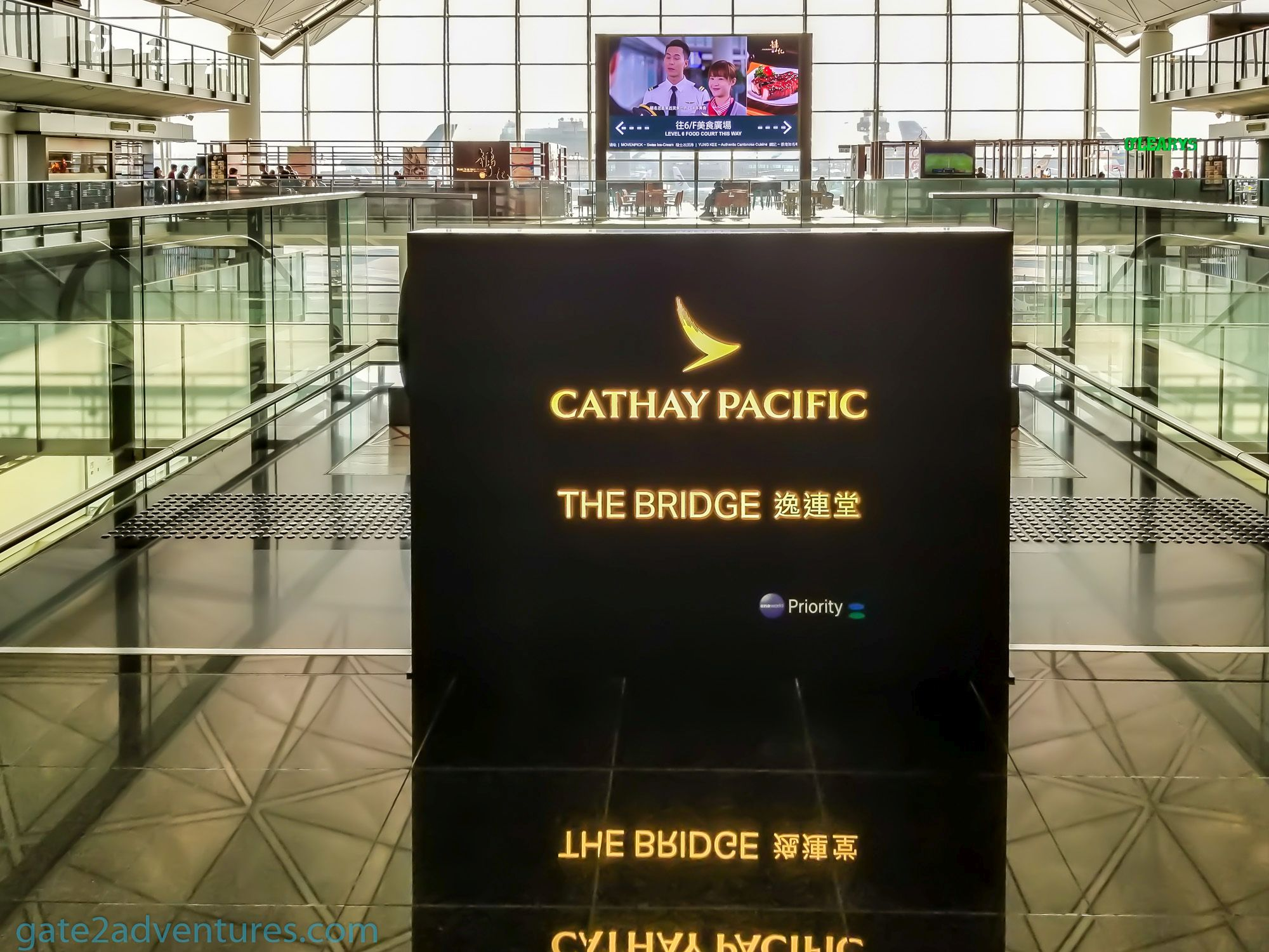 "Cathay Pacific ""The Bridge"" Business Class Lounge at Hong Kong International Airport"