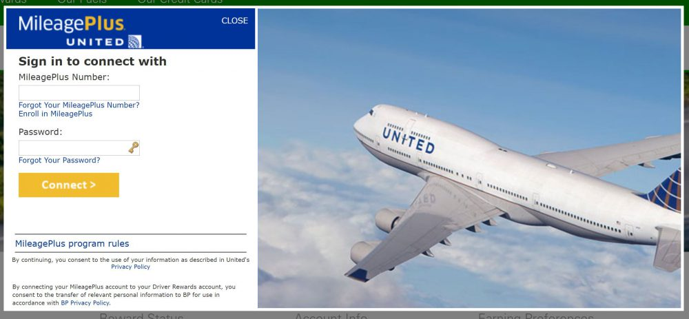 United Airlines MileagePlus Account