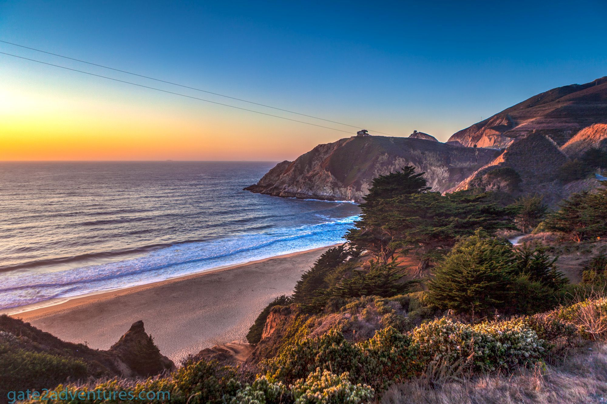 Photo Of The Week Sunset At Gray Whale Cove State Beach California