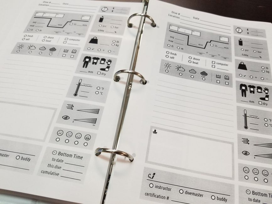 How To Create your own Dive Logbook - Gate to Adventures