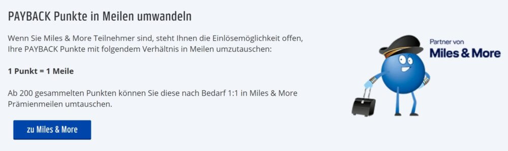 Payback Redemption to Lufthansa Miles&More