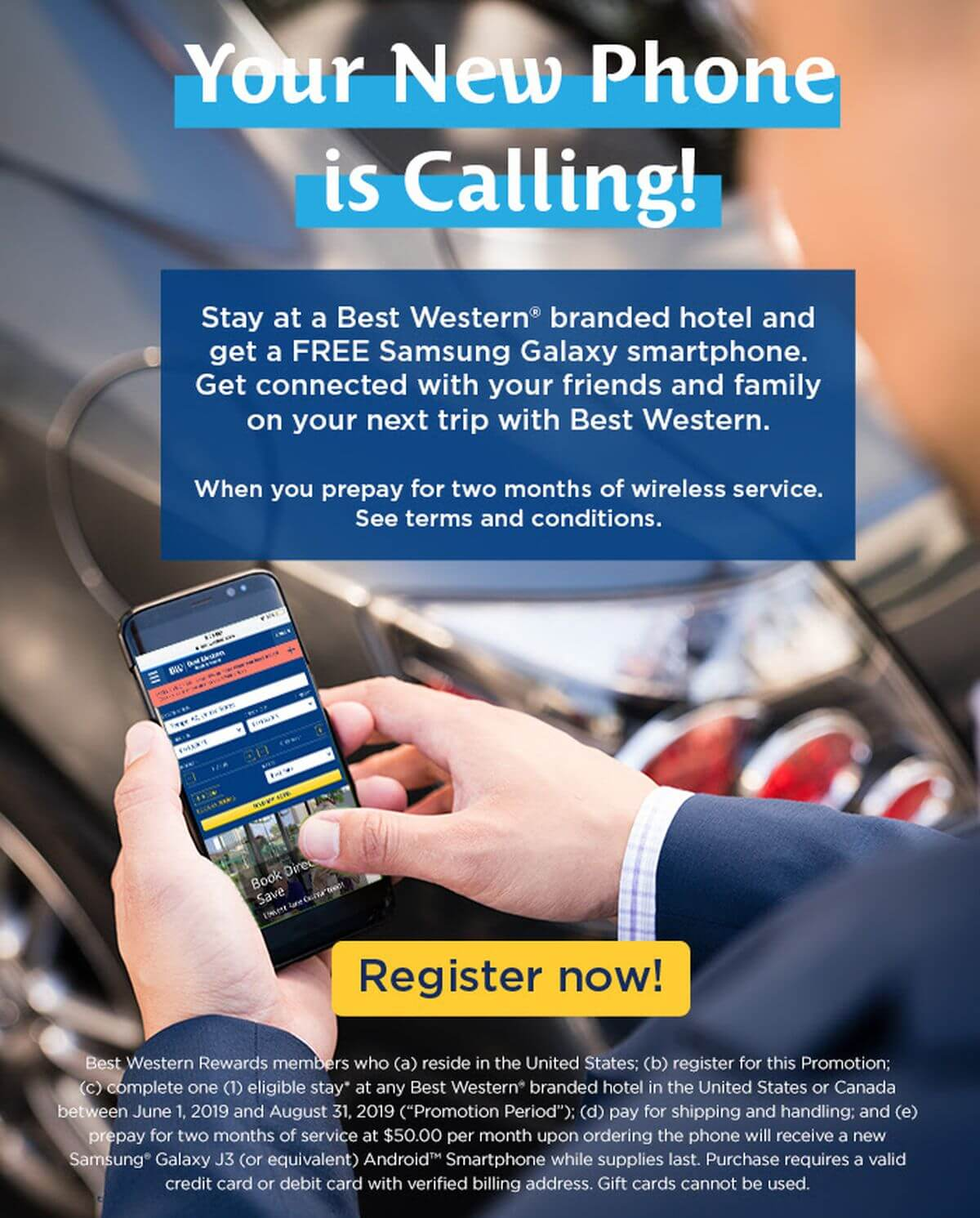 Best Western Wants to Give You a Free Samsung Galaxy J3