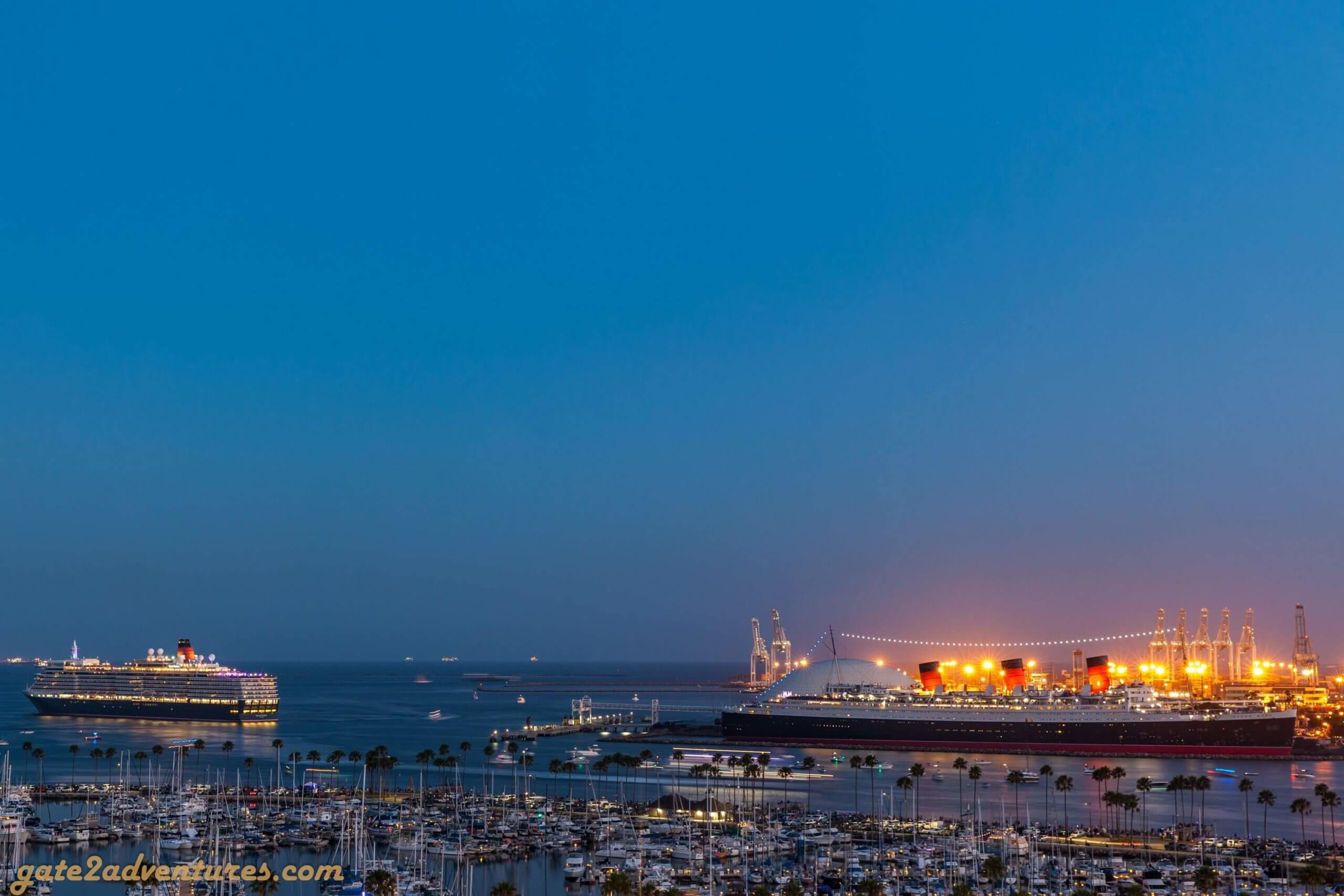 All American Firework Show at the Queen Mary in Long Beach