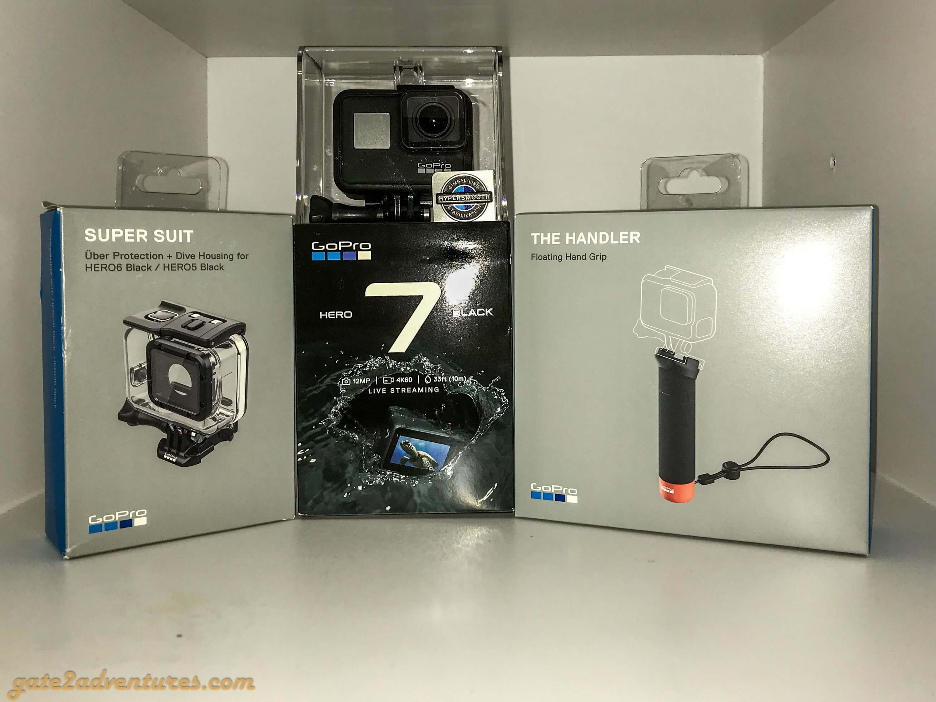 GoPro Hero 7 Black and Accessories
