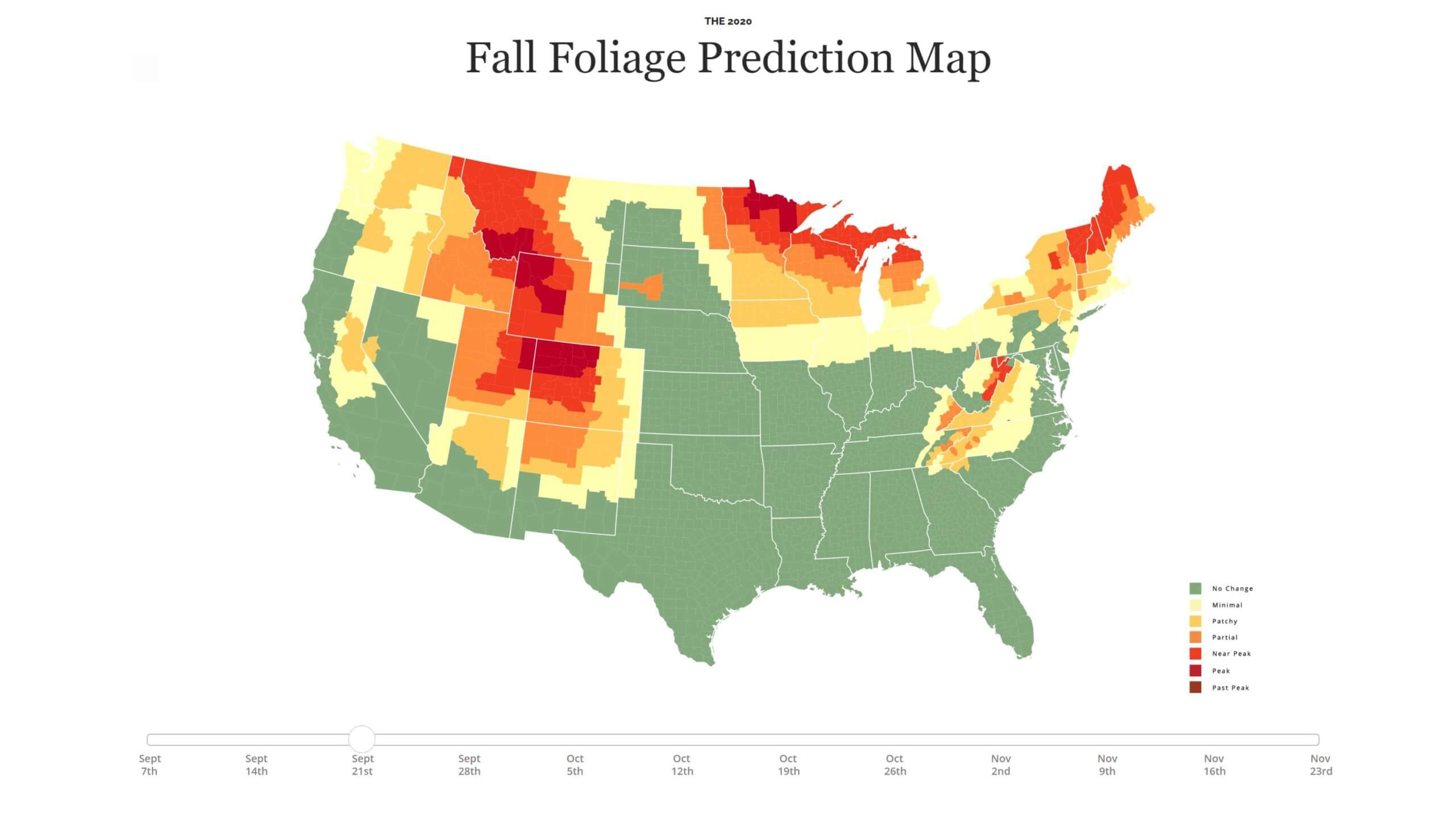 Fall Foliage Map 2020